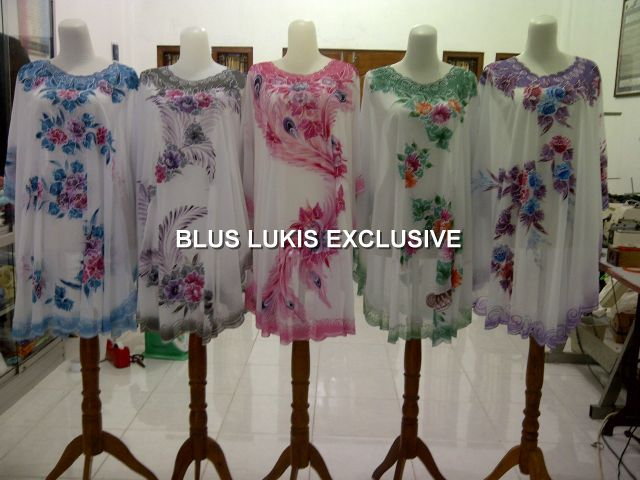 Kaftan and dress painting with more motifs and coloursâ?¦..call me +6287836058267 /WA +6283866220819 /pin BB 28D34CB9