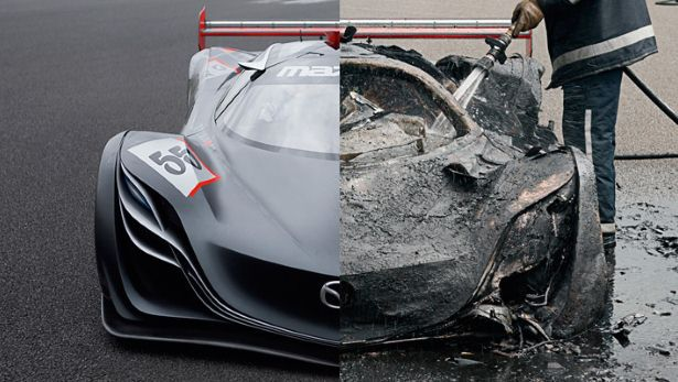 Mazda Furai Concept Before and After
