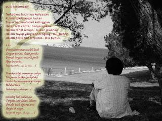 Beberapa kumpulan puisi diatas merupakan kumpulan puisi cinta yang mungkin dapat menjadi inspirasi bagi anda. Mungkin setelah membaca puisi cinta diatas, anda bisa membuat sebuah puisi cinta, entah bergaya metafora atau yang lebih nyata sesuai