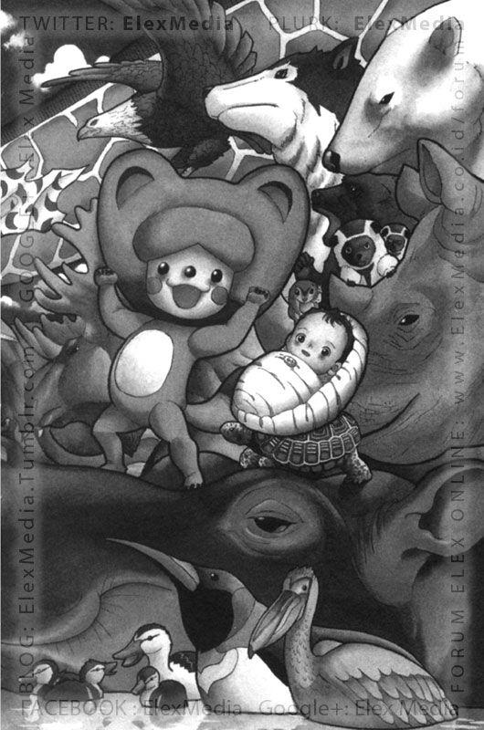 #InfoBuku Komik terbaru Elex yang akan segera terbit, ANIMAL KINGDOM. Inilah kisah mengharukan tentang bayi manusia yang ditemukan oleh seekor rakun. Penasaran dengan artwork-nya? Yuk, intip di http://ow.ly/tngqU mobile http://ow.ly/tnguz