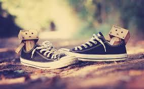 danbo pake sepatu....