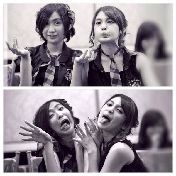 Ghaida & Nabila JKt48. hahaha Lucu ya