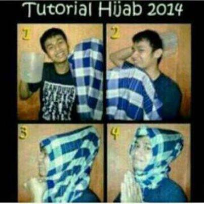 tutorial hijab 2014 :D
