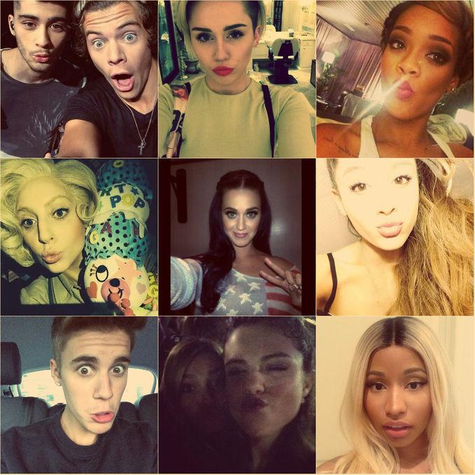 Beberapa Foto Selfie para Celebrity :D 1, Zayn malik & harry styles 2.Miley Cyrus 3.Rihanna 4.Lady Gaga 5.Katy pery 6.Ariana Grande 7.Justin bieber 8.Selena Gomez 9,.Nicki minaj