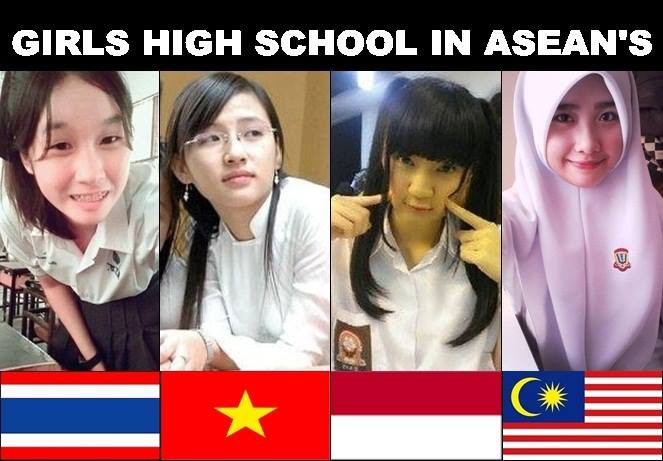 Girls High School in ASEAN is Beautiful !!