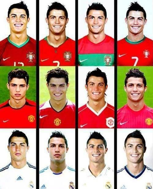 Gaya rambut C.Ronaldo dari tahun ke tahun. #hairstyle