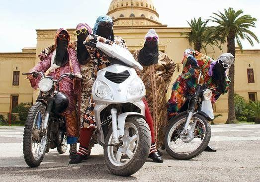 Kesh Angels Geng Motor Wanita Maroko Cantik Memakai Cadar Foto