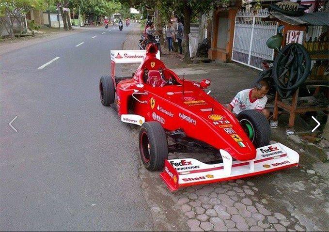 F1 Tambal ban dulu