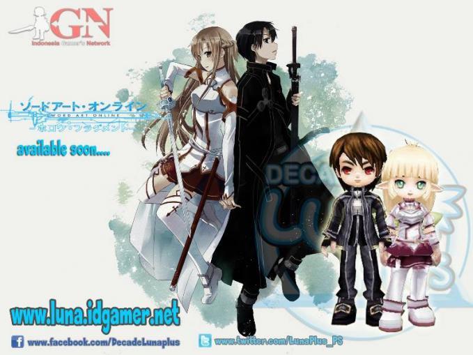 Sword Art Online Akah segera Hadir dalam games Luna pLus online. Untuk lebih jelas kunjungi www.luna.idgamer.net