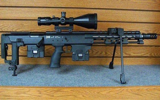DSR-Precision DSR 50 Sniper Rifle Diproduksi oleh DSR-precision GmbH, Jerman, menjadi senjata paling berbahaya di dunia dengan kaliber 0,50 yang kuat dan ketepatan yang luar biasa, yang bisa membunuh orang dari jarak yang sangat jauh.
