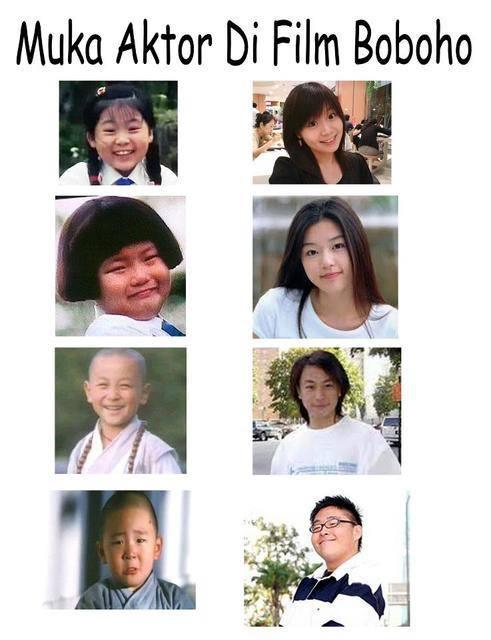 Ini dia wajah2 para aktor film boboho semasa kecil kita dulu. yg kiri waktu dulu yg kanan waktu sekarang , dan no. 2 lah yg bikin bingung , dulu gemuk dan tidak cantik tapi sekarang???? o.O kawai... :v
