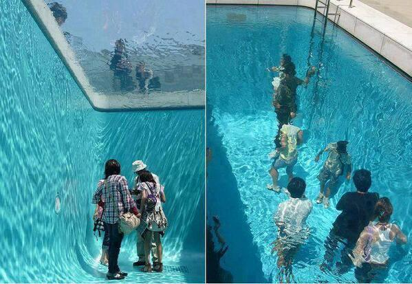 Fake Swimming Pool in Japan