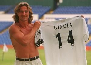 Legenda Tottenham Hotspur. Ginola yang juga pernah memperkuat Newcastle dan Paris Saint Germain (PSG)