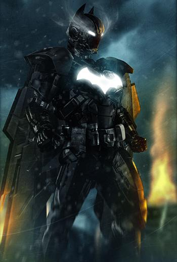 nah kalo ini hasil dari kerjasama 2 Milyader Bruce wayne ama Tony stark, Buat Batman suitnya nah udah engga terkalahkan nih si Batman WOW!