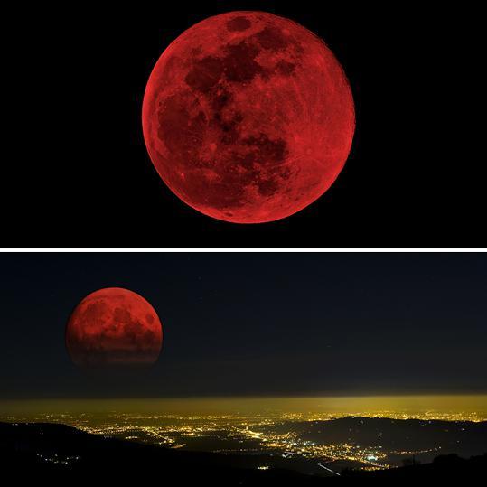 Foto Blood Moon. Gerhana bulan total pertama 2014 terjadi pada 14-15 April. via http://ind.pn/1eDHHFZ