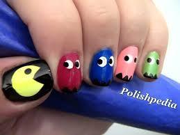 pacman nail art :v