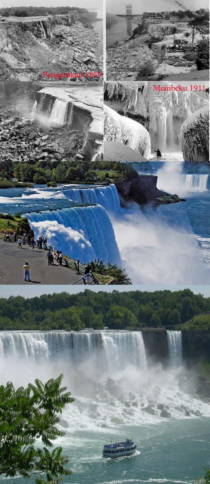 Sobat Pulsk, inilah proses pembuatan air terjun Niagara di Amerika Serikat, keren ya sobat Pulsk.