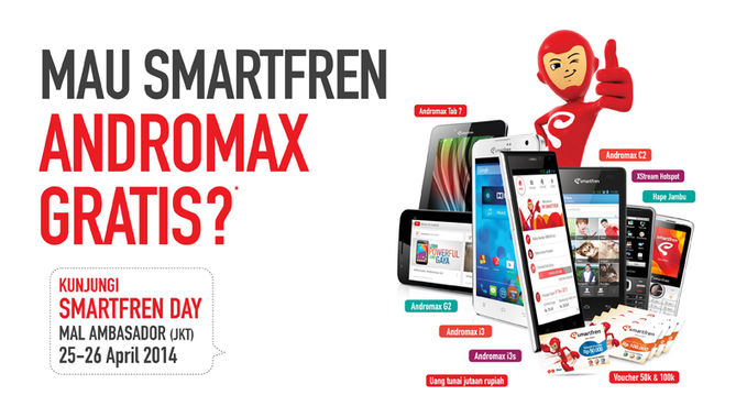 Pulsker! Ikutan yuk Smartfren Day di Mall Ambasado 25-25 April 2014