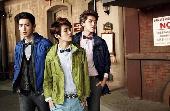 Chanyeol, Luhan, Kris EXO.
