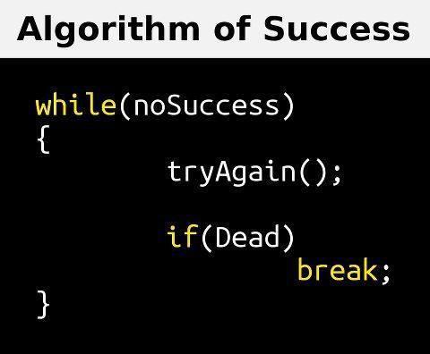 Algorithm to success