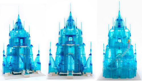 Istana Elsa yang terbuat oleh susunan-susunan lego. Please WOW! LEGO FROZEN 2/2