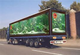 Wooow...kayak truk yg didalamnya ada aquariumnya ya.... Padahal itu hanyalah gambar.... Ketipu gk nieh....Hahaha...WOW!