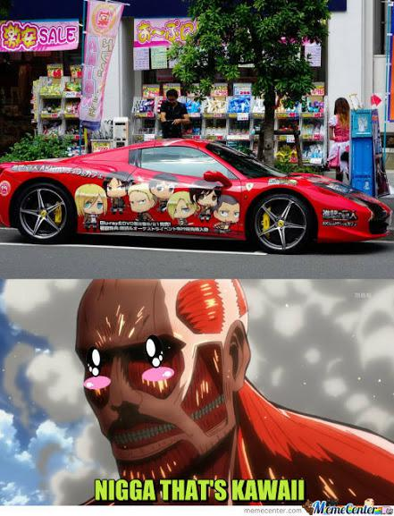 Attack on cars sekarang tersedi.... the Titan Mobile! XD Dan yang mengatakan mereka membutuhkan maneuver gear?... #attackontitan #funny #cars #anime