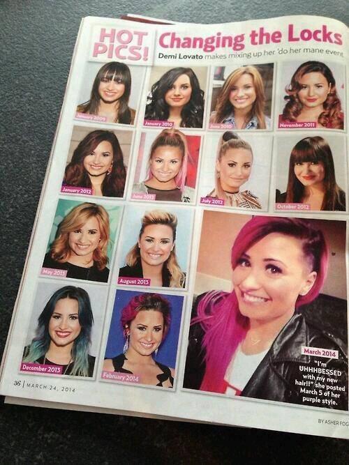 Gaya Rambut Demi Lovato Dari Waktu Ke Waktu - Gaya rambut pendek demi lovato