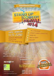 Tahun ini akan di selenggarakam #Standupfest2014 di tenis indoor senayan tanggal 14-15 juni tiket dapat di beli di 7 eleven atau di ibudibjo.com di selenggarakan oleh @standupmetrotv dan @standupido