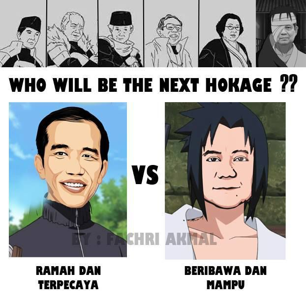 Jokowi ala Naruto vs Prabowo ala Sasuke