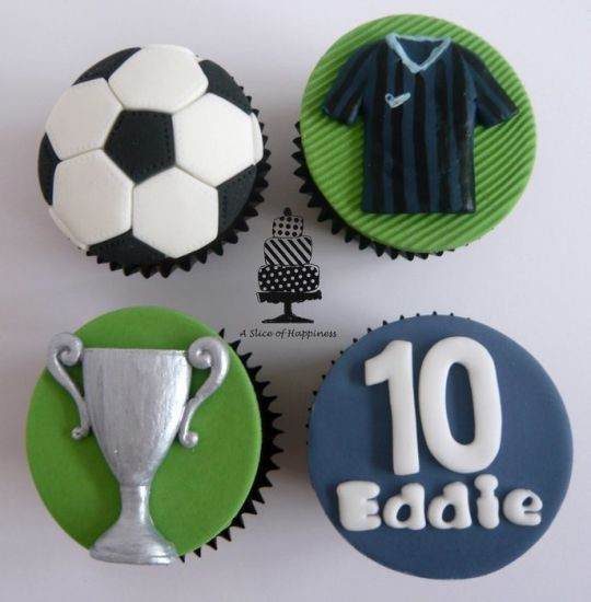 Soccer Jersey & Football Cupcakes for 2014 Brasil Cupcakes
