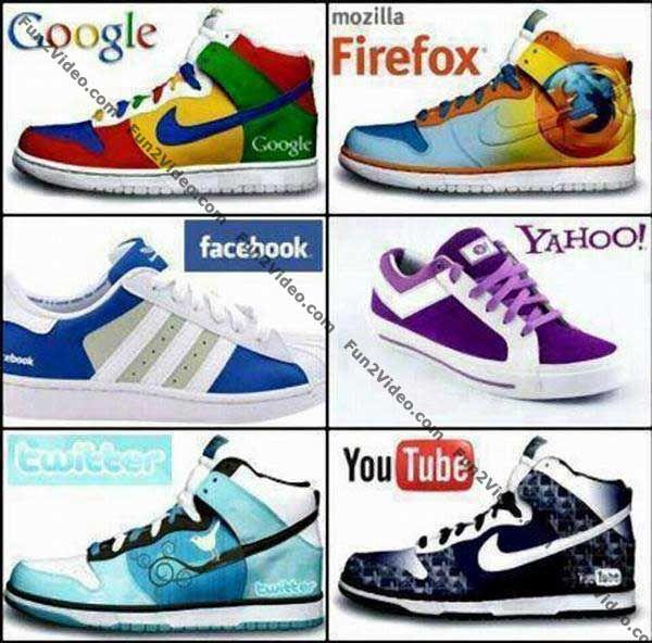 Sobat Pulsk, keren ya model sepatu dengan motif sosial media ini.