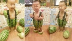 Gak ada kain , buah pun jadi .... untung bukan buah durian ... heheheh