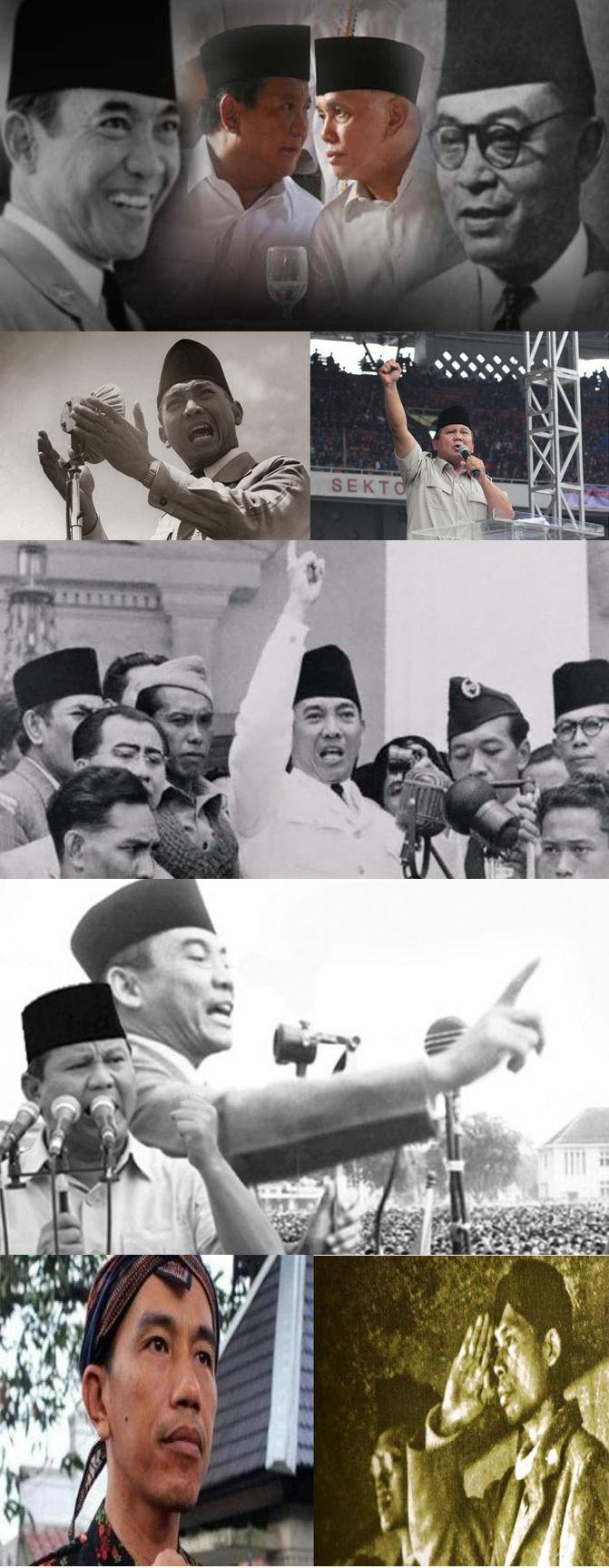 Sobat Pulsk, inilah kemiripan tokoh pahlawan nasional dengan calon kandidat Presiden Indonesia. Bapak Prabowo mirip Presiden Soekarno, kalau Bapak Jokowi mirip Jenderal Sudirman. Jadi kira-kira siapa ya yang pantas menaji presiden RI, kita lihat saja pada tanggal 9 Juli 2014 nanti. Semoga yang dipilih rakyat adalah yang terbaik. Pokoknya tetap satu Indonesiaku.