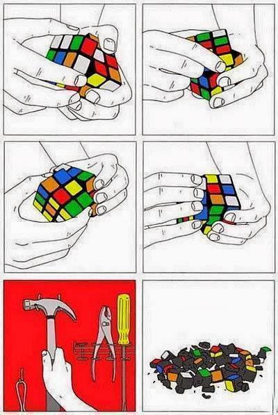 Bagaimana memecahkan Kubus Rubik - Untuk menghadapi situasi ini, saya selalu merekomendasikan penggunaan alat yang tepat untuk memecahkannya.