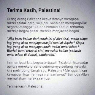 Thanks Palestine . . . :) Pray for palestine