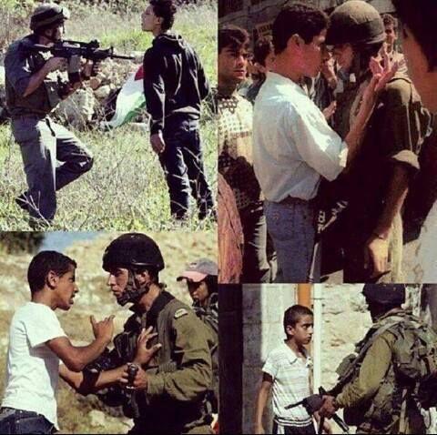 """THANKS TO PALESTINE :) Ini baru cowo sejati broo!! Ga takut akan pluru. Pada saat orang-orang palestina di tanya kenapa tidak mengungsi saja ke negara tetangga mreka menjawab.. """"Jika kami kluar dari tanah ini (palestina) maka.. siapa lagi ya"""