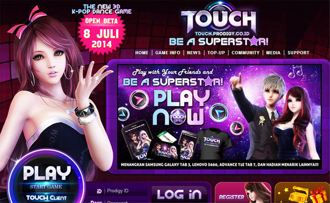 Suka main game dance. Inget AyoDance? Sekarang ada game dance yg bakal booming namanya TOUCH . Musiknya pakai lagu-lagu hits K-Pop. Register aja sekarang http://touch.prodigy.co.id/ Banyak hadiah langsung! Klik wow yaa #game_dance #video_game