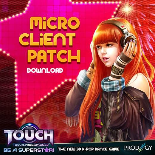 "WoW !! Game Online Dance terbaru yang asik dan rame ""bingits"" Touch Online Indonesia http://touch.prodigy.co.id/ sekarang bisa dimainkan dengan Micro Client. Pulsker dapat menginstall Micro Client Patch > http://goo.gl/H48Htf ..AyoDance Ayo!"