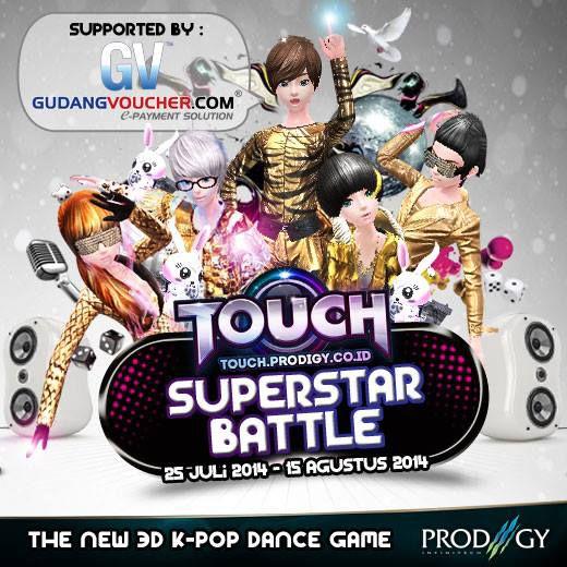 Touch Online Indonesia http://touch.prodigy.co.id/ akan mengadakan Battle Superstars pada 14 Agustus 2014. Merasa tertantang? Daftarkan diri kalian sekarang juga dan dapatkan hadiahnya!! Info lebih lanjut : http://goo.gl/6ySSAE AyoDance!
