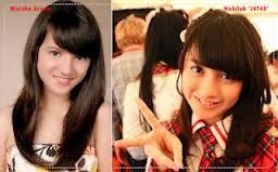 Ini foto MARSHA ARUAN dan NABILA JKT48, kok mirip yah? menurut kalian gmana?? yang setuju jgn lp #wow nya dong :)