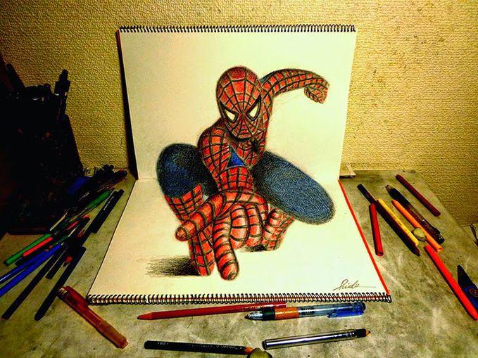 Keren Lukisan 3d Ini Dibuat Hanya Dengan Pensil Dan Kertas Gambar