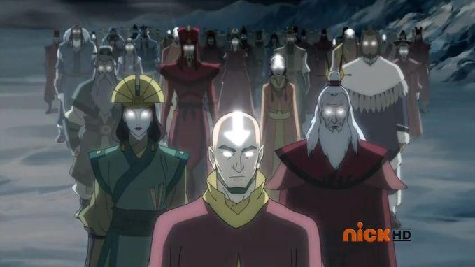 Para Avatar Pendahulu Sebelum Avatar Korra depan Avatar Aang, Roku, Kyoshi, Kurruk, Yang chen lainnya gak kenal :v