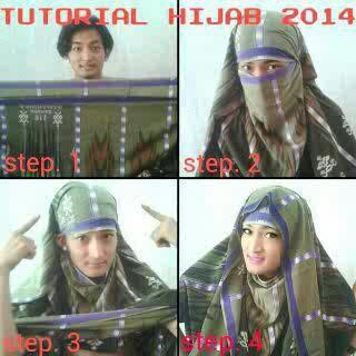 Tutorial Hijab Sarung Step 4 ngakak :v