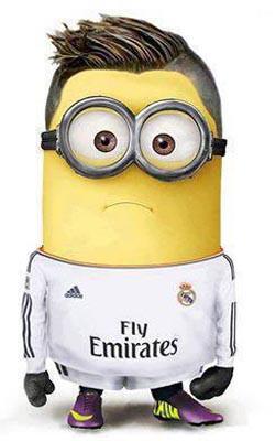 minion versi C,Ronaldo, ehhmmm... lumayan mirip !
