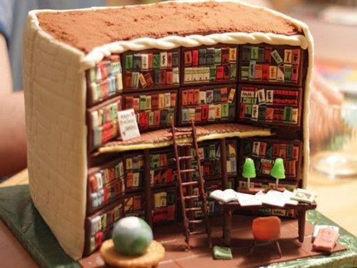 Keren....Kue ini Dibuat dengan Desain Interior Perpustakaan Super Detail
