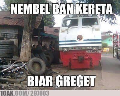 Sekarang Kereta Bisa Tambal Ban.
