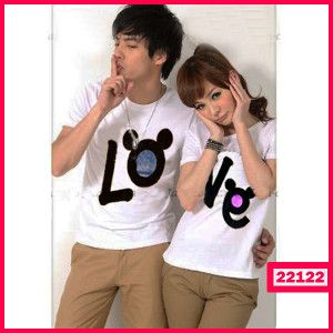 Baju Couple Love Mickey Harga : 59.600 Size : - Co (L) P=67cm LD=50cm - Ce (M) P=63cm LD=41cm Bahan : Cotton Combed