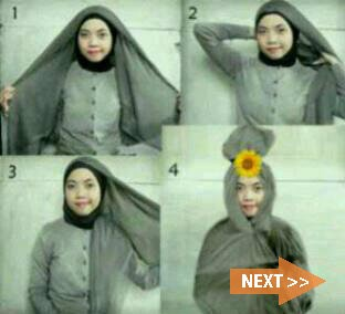 Tutorial Hijab Modern unik