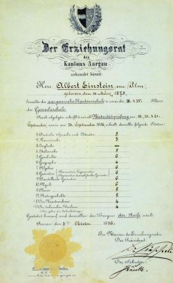 Nilai Raport Albert Einstein